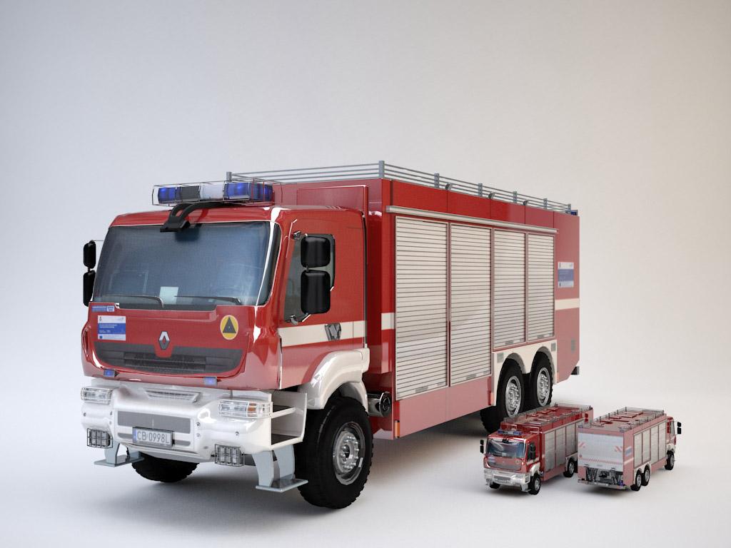 -  - Wóz strażacki